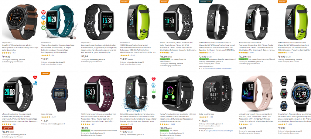 Amazon Duitsland shoppen sporthorloge smatwatch