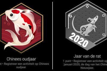Badges Garmin Connect Chinees Nieuwjaar 2020