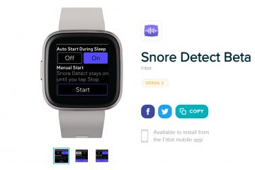 Fitbit Versa 2 snurkdetectiefunctie