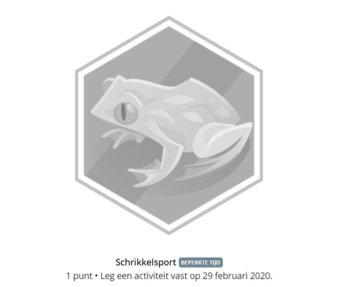 Garmin Schrikkelsport badge