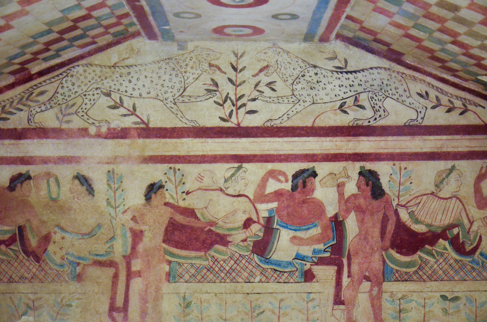 Etruscan tomb with frescoes, Tarquinia 3