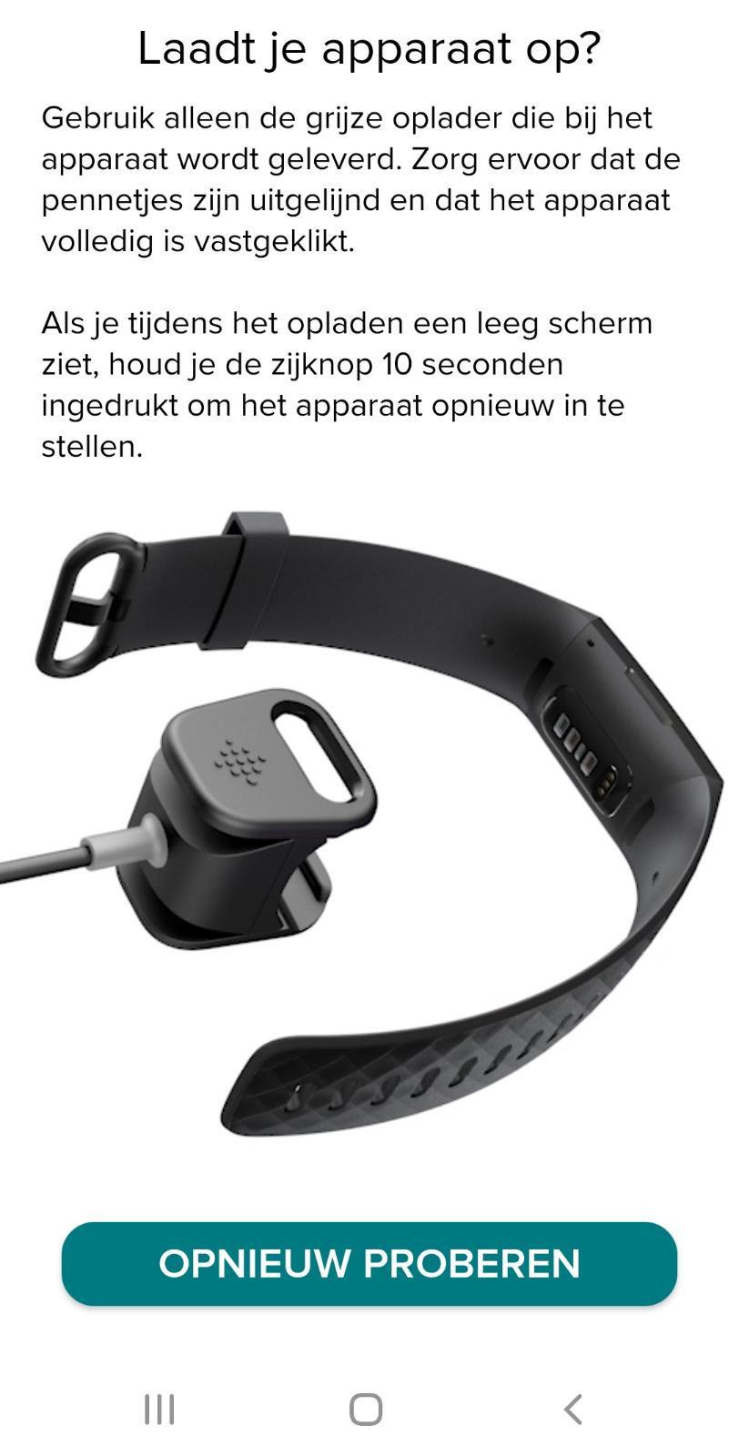 Fibit Charge 4 opladen