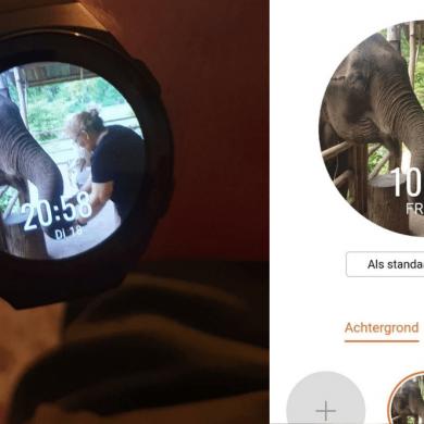 Wijzerplaat aanpassen eigen foto horloge achtergrond Huawei GT 2e Sport