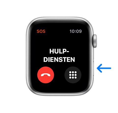 Hulpdienst bellen valdetectie Apple Watch
