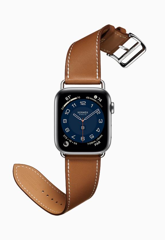 Leren band hermes Apple Watch
