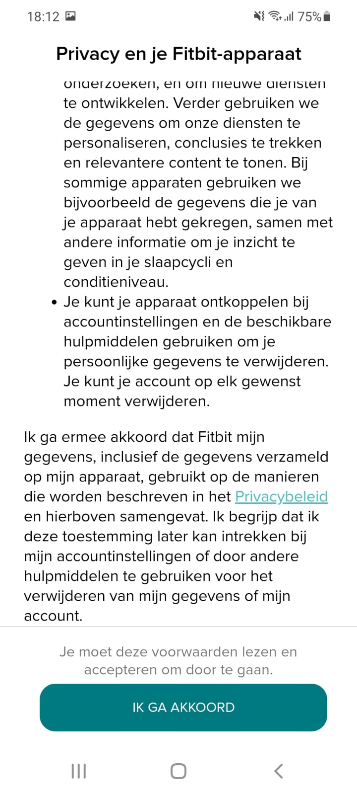 Privacybeleid fitbit
