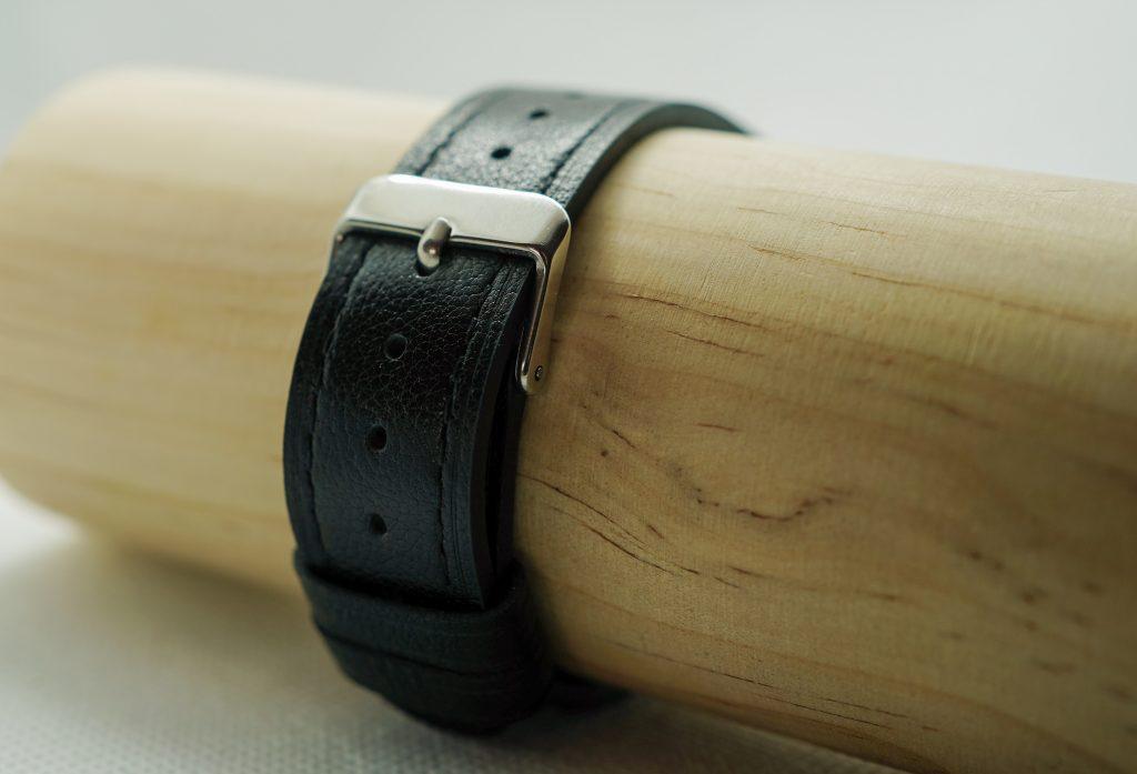 Horlogebandje leer zwart voor Versa 3 en Fitbit Sense