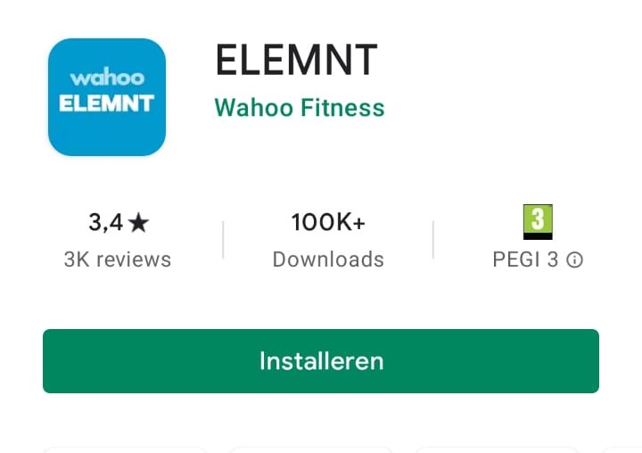 Companion app Wahoo ELEMNT App Store Android iOS