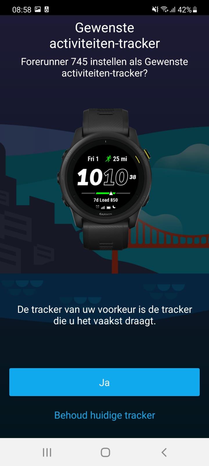 Gewenste Activity tracker Garmin