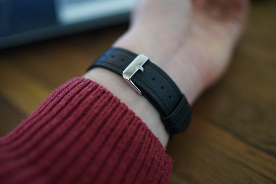 Leren horlogebandje Fitbit Sense
