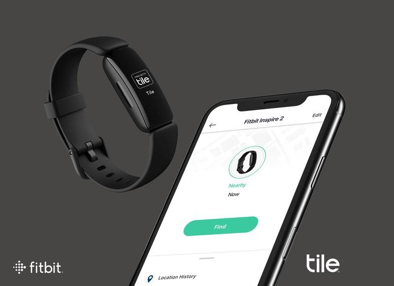 Fitbit Inspire 2 Tile zoek mijn tracker