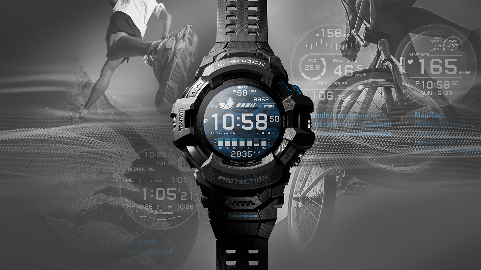 Casio G-shock GSW-H1000 smartwatch