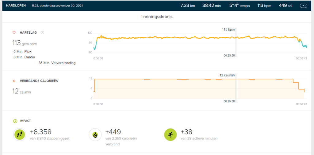 Meting Hardlopen Fitbit Charge 5
